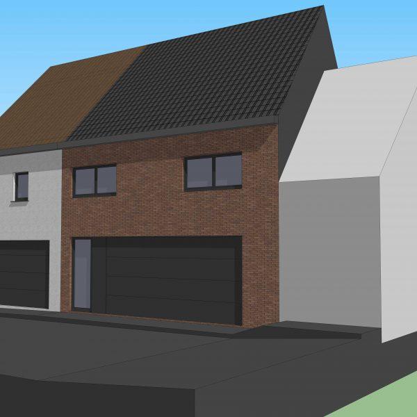 Toekomstig project: 2 nieuwbouwwoningen Sint-Lievens-Houtem